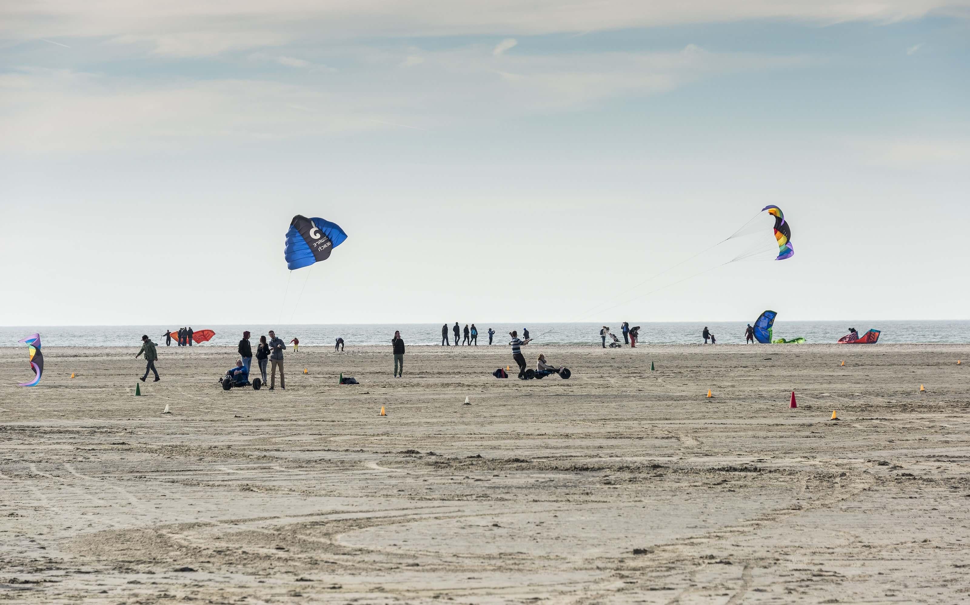 Noordzeepark kitesurfen strand