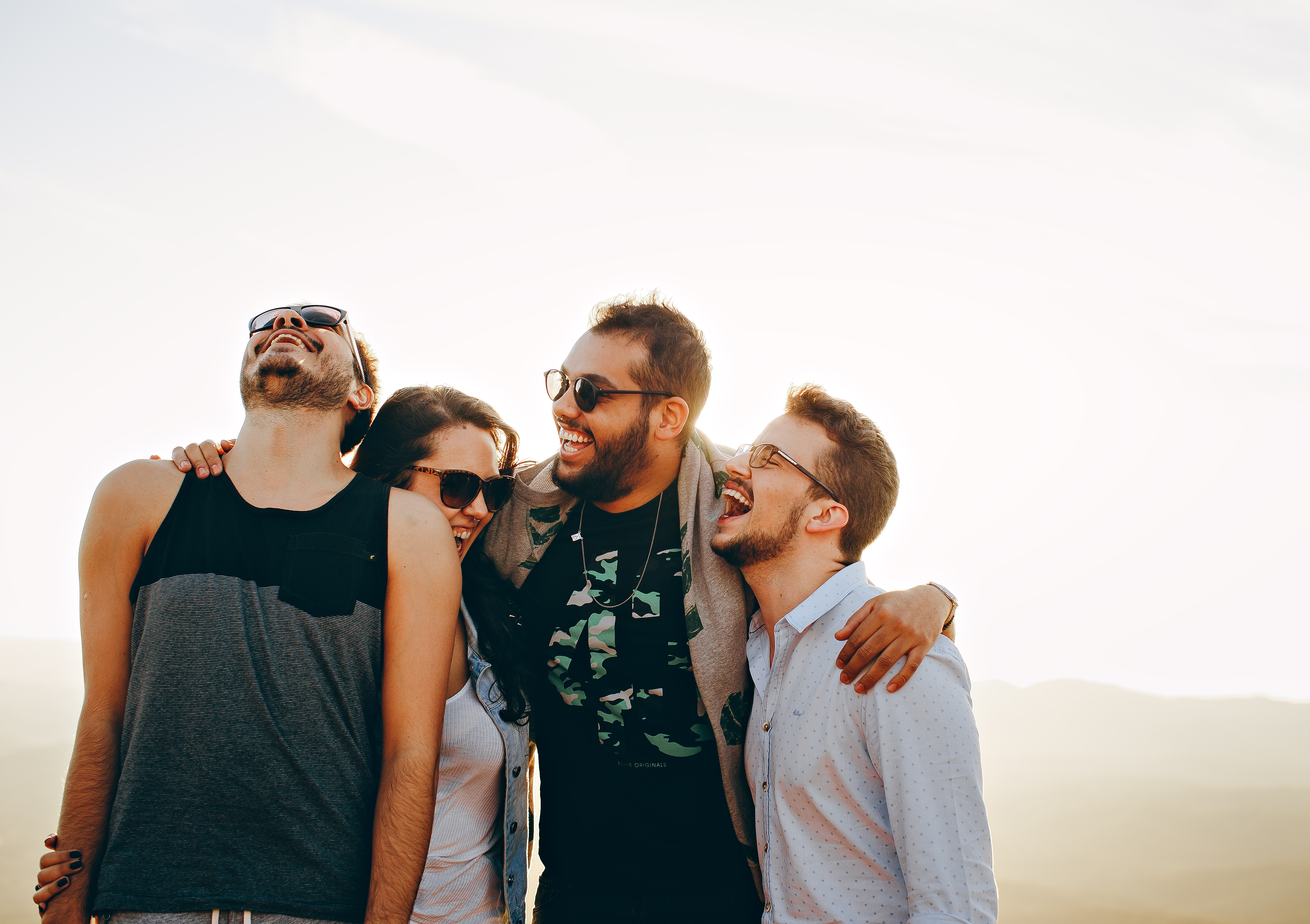 Vrienden op vakantie