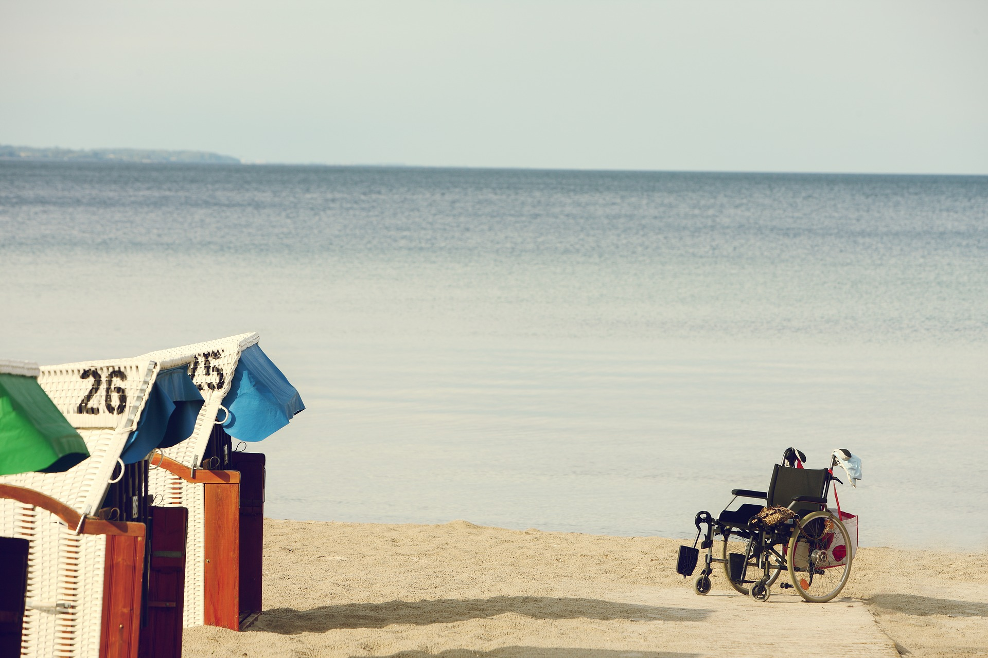 Rollstuhl Strand