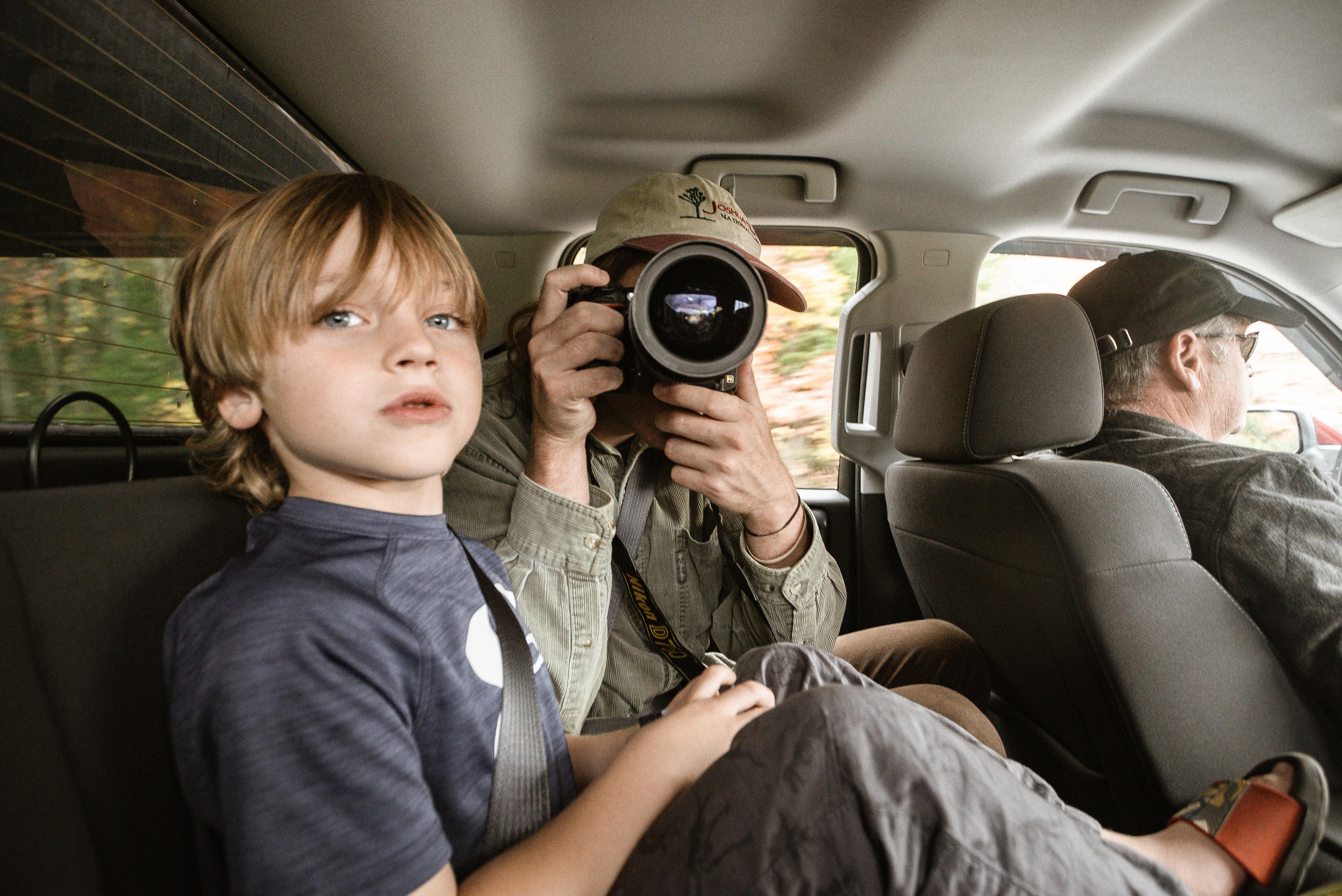 Kinderen in de auto